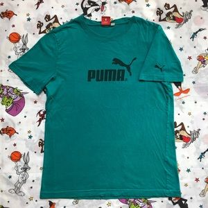 Puma t-shirt M logo graphic spell out